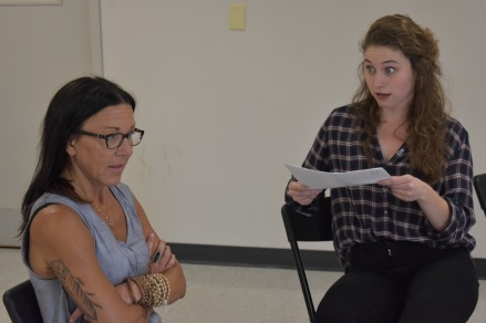 Melissa Rainey and Brooke Owens audition for the ensemble