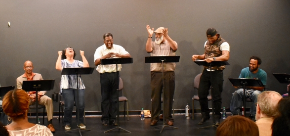 Geoffrey D. Williams, Marguerite Hannah, E. Roger Mitchell, Robert John Conner, Rob Demery in Sonhara Eastman's THE CLUB.
