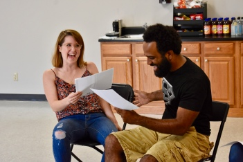 Annie York and Anthony S. Goolsby audition for the ensemble