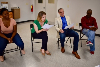 Brittany Inge, Kelly Criss, David DeVries and Kerwin Thompson audition for the WTP Actor's Ensemble