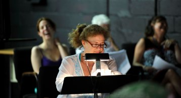 """Jo Howarth Noonan """"Reverend Mojo"""" in a EWL reading of Topher Payne's EVELYN IN PURGATORY"""