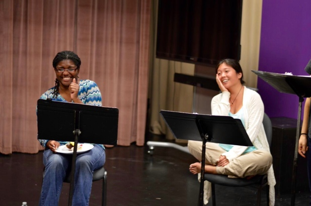 Amina McIntyre and Katelyn Foley in Annie Harrison Elliots' EMPTY ROOMS