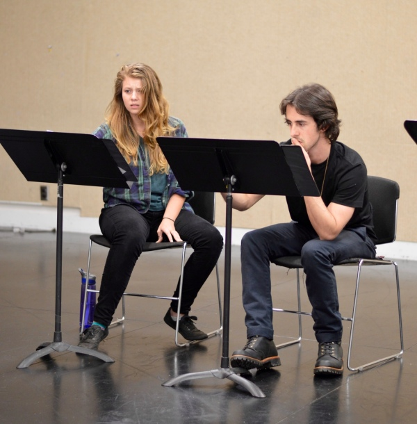 Elin Rose Hill and Barrett Doyle in an EWL rehearsal for Theroun D'Arcy Patterson's THE CANNIBALS