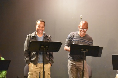 Eugene H. Russel IV and Geoffrey D. Williams in Sonhara Eastman's THE CLUB.