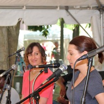 Daryl Lisa Fazio and Ann Marie Gideon at the Decatur Arts Festival