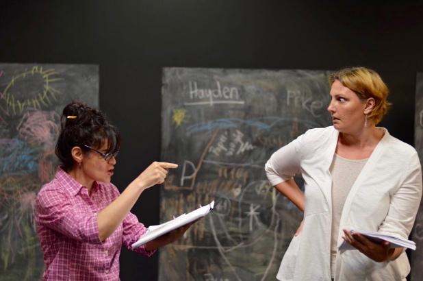 Maria Rodriguez-Sager and Kristin Kalbli in Annie Harrison Elliots' EMPTY ROOMS