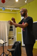 "Reginald Edmund teaching ""Playwriting as Activism"" 2017"